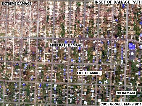 Joplin Tornado Path Google Earth